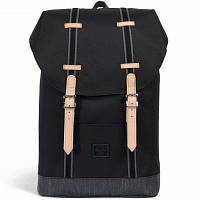 Herschel RETREAT MID-VOLUME Black/Black Denim