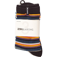 Billabong STRIPE SOCK 3 PACK B ASSORTED