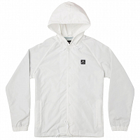 RVCA VA HOOD COACH JACKET ANTIQUE WHITE