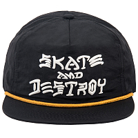 THRASHER SNAPBACK - S&D PUFF INK BLACK