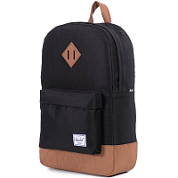 Herschel Heritage Mid-Volume Black/Tan Synthetic Leather