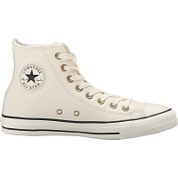CONVERSE CHUCK TAYLOR ALL STAR WINTER KNIT + FUR HI PARCHMENT/BLACK/EGRET