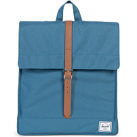 Herschel CITY MID-VOLUME INDIAN TEAL/TAN SYNTHETIC LEATHER