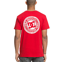 DC CIRCLE STAR FB  M TEES TANGO RED