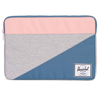 Herschel ANCHOR SLEEVE FOR MACBOOK LIGHT GREY CROSSHATCH/AEGEAN BLUE/PEACH