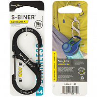 Nite Ize S-BINER SLIDELOCK 4 BLACK