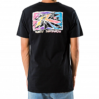Rusty SPLINTER SHORT SLEEVE TEE BLACK