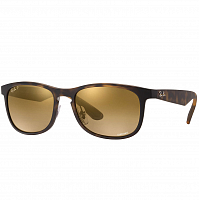 RAY BAN RB4263 MATTE HAVANA/BRONZE POLAR MIRROR GOLD