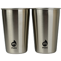 MIZU PARTY CUP SET (2) Stainless w Black Print