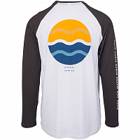 Rip Curl SHORE LINES LS TEE OPTICAL WHITE