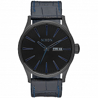 Nixon Sentry Leather NAVY GATOR