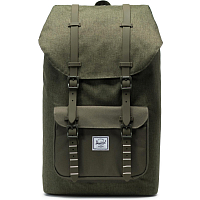 Herschel Little America Olive Night Crosshatch/Olive Night