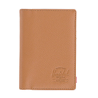 Herschel RAYNOR PASSPORT HOLDER RFID Tan Pebbled Leather