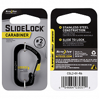 NITEIZE CARABINER SLIDELOCK 2 BLACK