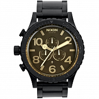 Nixon 51-30 Chrono MATTE BLACK/ORANGE TINT