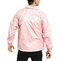 Grizzly OG BEAR COACHES JACKET Pink / White