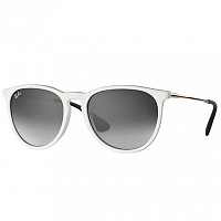 RAY BAN ERIKA SHINY WHITE SP RED/GREY GRADIENT DARK GREY