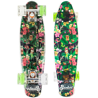 SUNSET SKATEBOARDS MAHALO 22 SS MAHALO DECK W/GREEN/WHITE WHEELS