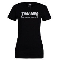 Thrasher GIRLS MAG LOGO SHORT SLEEVE BLACK