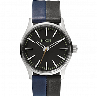 Nixon SENTRY 38 LEATHER Black/Navy/Black