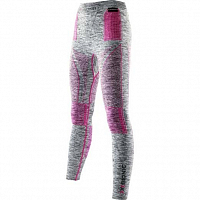 X-Bionic EVO MELANGE UW PANTS LONG Light Grey Melange/Raspberry