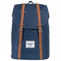 Herschel RETREAT Navy/Tan Synthetic Leather