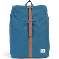 Herschel POST MID-VOLUME INDIAN TEAL/TAN SYNTHETIC LEATHER