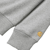 Carhartt CHASE SWEATSHIRT GREY HEATHER / GOLD