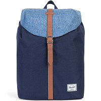 Herschel POST MID-VOLUME PEACOAT/LIMOGES CROSSHATCH/TAN SYNTHETIC LEATHER