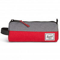 Herschel SETTLEMENT CASE Barbados Cherry Crosshatch/Mid Grey Crosshatch/Bla