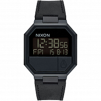 Nixon RE-RUN LEATHER ALL BLACK
