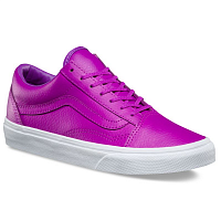 Vans UA OLD SKOOL (Neon Leather) neon purple/true white