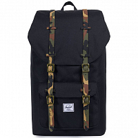 Herschel Little America Black/Woodland Camo Rubber
