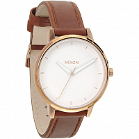 Nixon Kensington Leather ROSE GOLD/WHITE