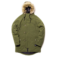 Footwork AMUT PARKA OLIVE NIGHT-BLACK