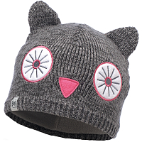 Buff CHILD KNITTED & POLAR HAT SHILA GREY VIGORE