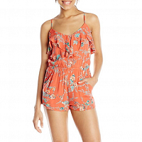 Billabong DREAM ESCAPE ROMPER HOT CORAL