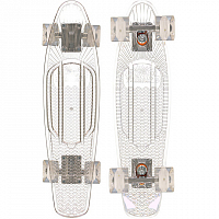 SUNSET SKATEBOARDS GHOST COMPLETE 22 SS15 CLEAR DECK - WHITE WHEELS