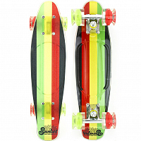 SUNSET SKATEBOARDS RASTA GRIP COMPLETE 22 SS15 RASTA STRIPE DECK R/Y/G- RED/GREEN WHEELS