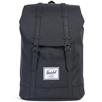 Herschel RETREAT BLACK/BLACK SYNTHETIC LEATHER