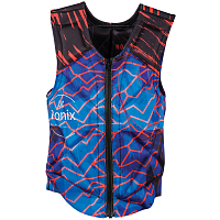 Ronix PARTY ATHLETIC CUT - REVERSIBLE IMPACT JACKET BLUE / RED LIGHTNING