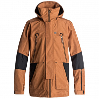 DC COMMAND JKT M SNJT LEATHER BROWN
