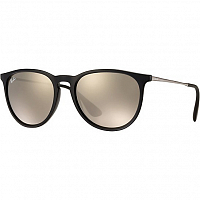RAY BAN ERIKA GUNMETAL/LIGHT BROWN MIRROR GOLD