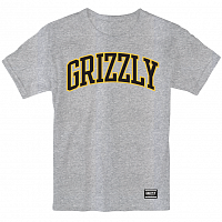 Grizzly UNIVERSITY S/S TEE GREY HEATHER