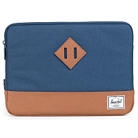 Herschel HERITAGE SLEEVE FOR MACBOOK Navy/Tan Synthetic Leather