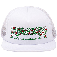 THRASHER ROSE MESH HAT WHITE