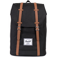 Herschel RETREAT Black/Tan Synthetic Leather
