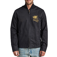 Roark STAR CROSSED BOMBER JACKET BLACK