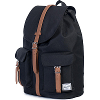 Herschel DAWSON Black/Tan Synthetic Leather