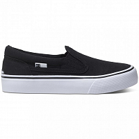 DC TRASE SLIP-ON T B SHOE BLACK/WHITE